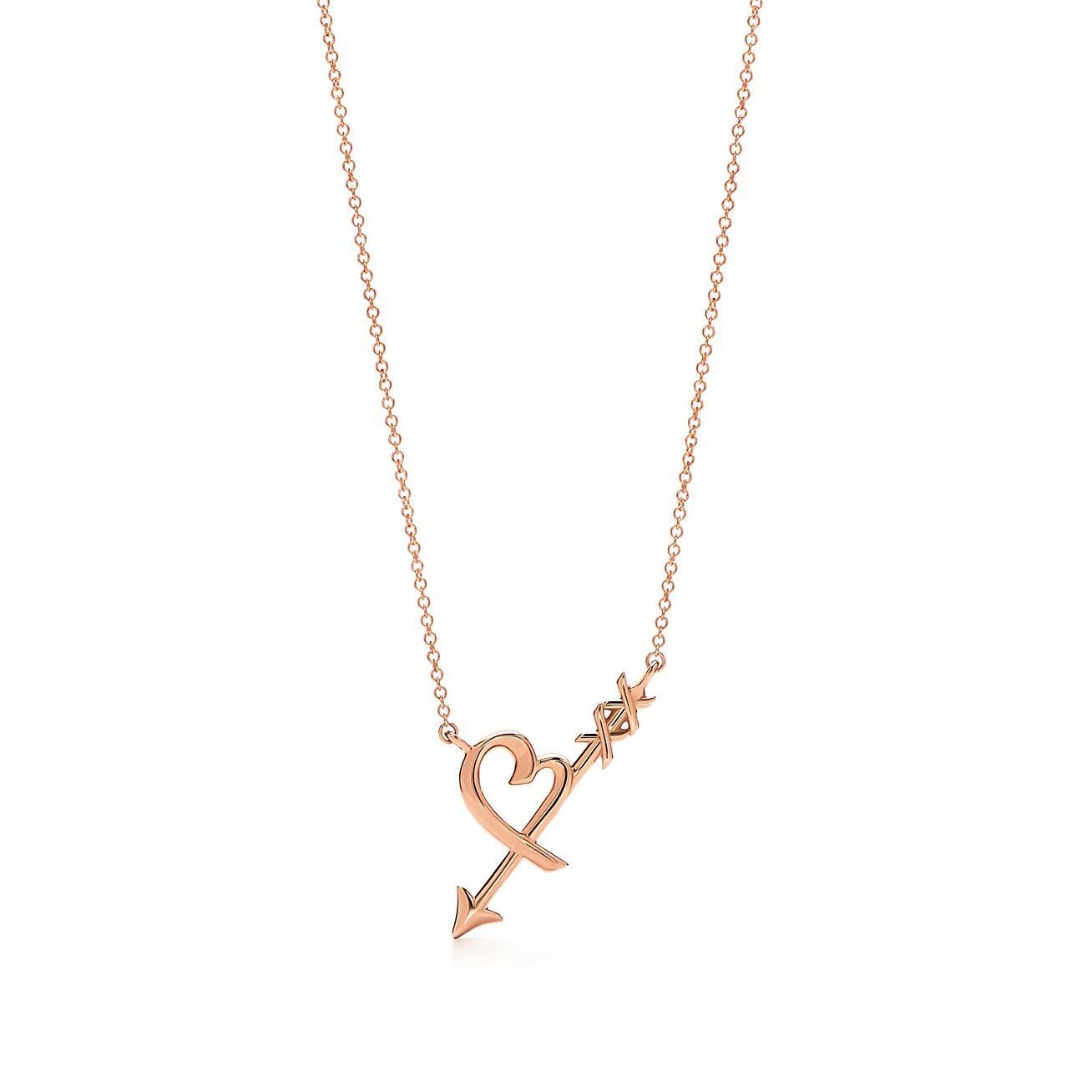Palomas Graffiti arrow pendant in 18k rose gold, small Tiffany & Co.