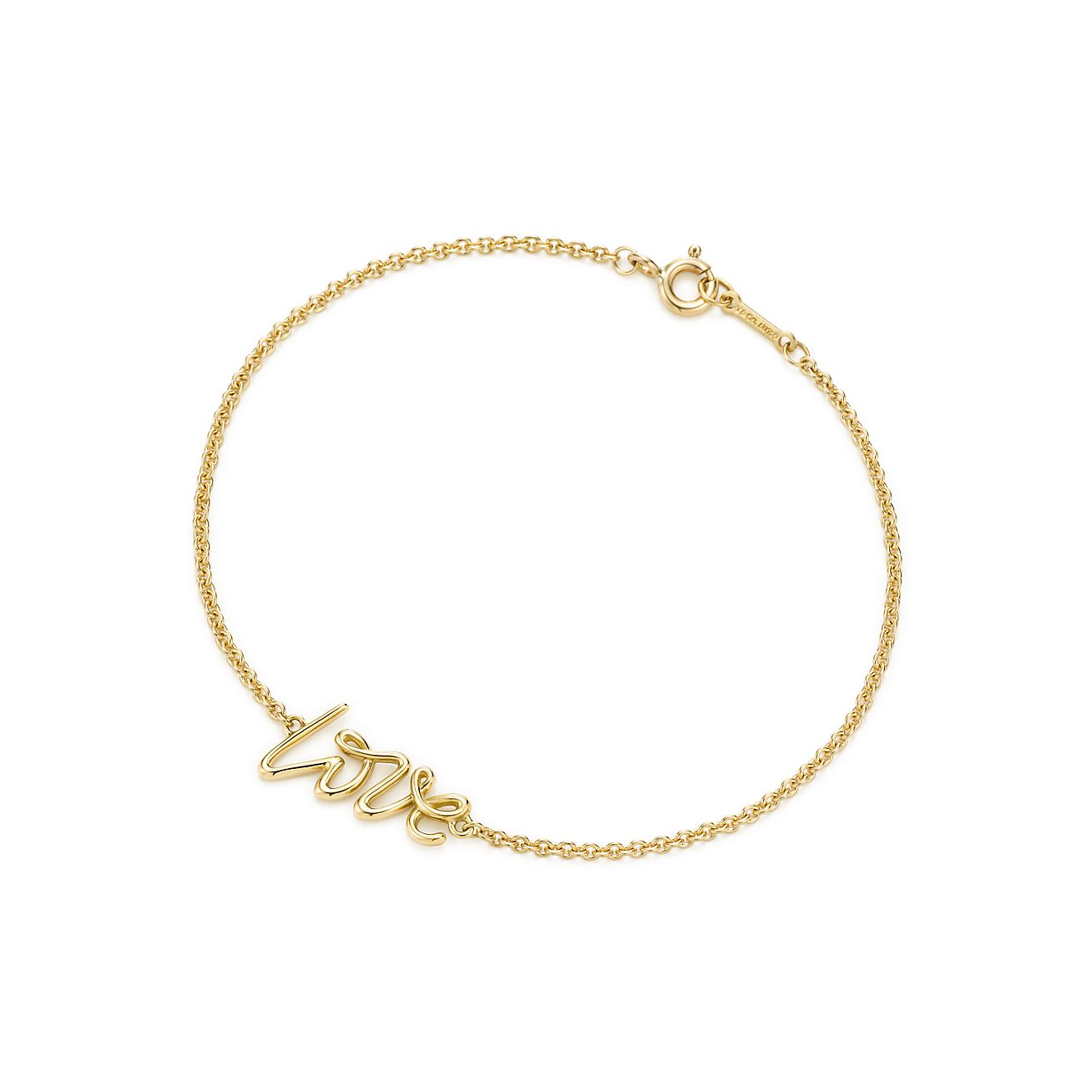 Graffiti Love Bracelet In 18k Gold