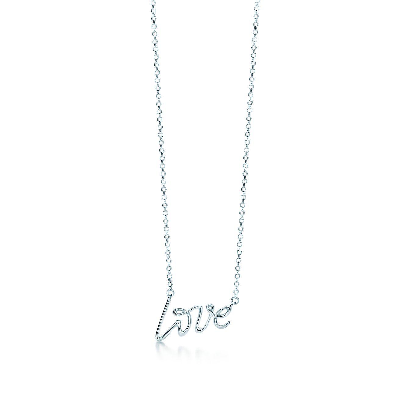 paloma s graffiti love pendant in sterling silver small tiffany