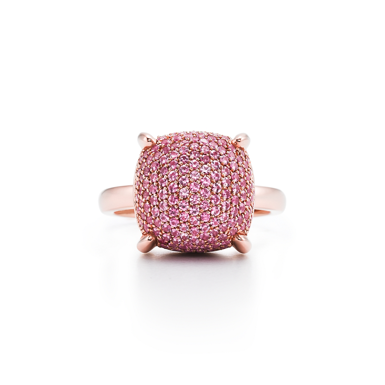 Paloma\'s Sugar Stacks ring in 18k rose gold with pink sapphires ...