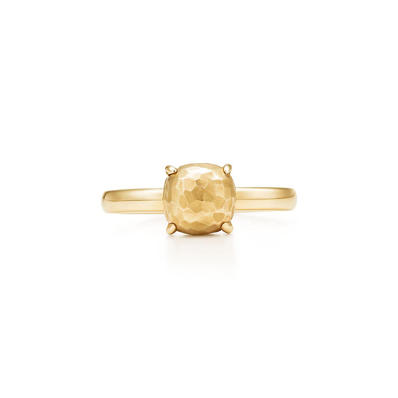 Palomas Sugar Stacks hammered ring in 18k gold - Size 6 Tiffany & Co. qLuc3N