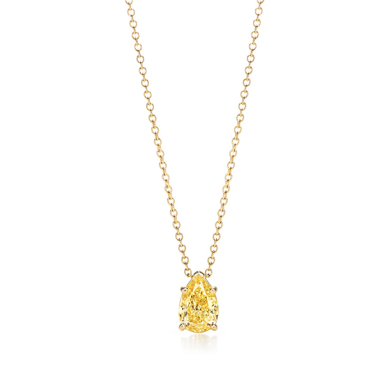Pear shaped tiffany yellow diamond pendant in 18k gold tiffany co pear shaped yellow diamond pendant aloadofball Gallery