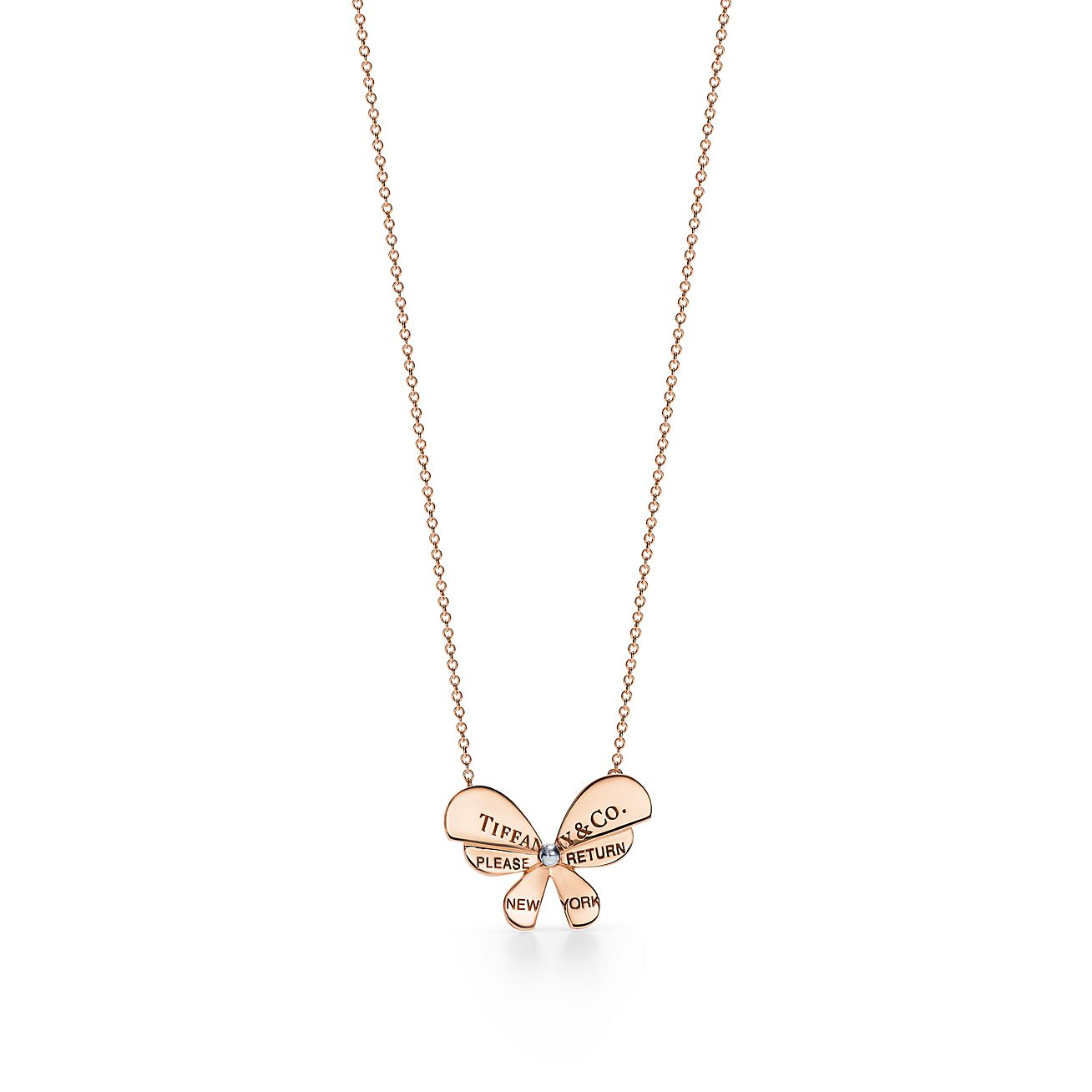 Silver and Gold Butterfly Necklace