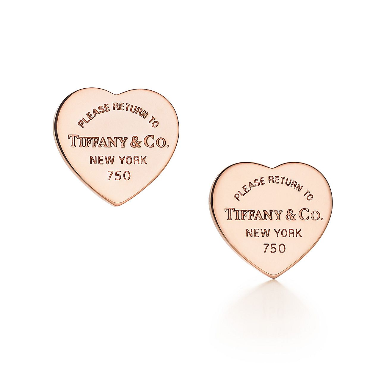 Return To Tiffany Mini Heart Tag Earrings In 18k Rose Gold Co
