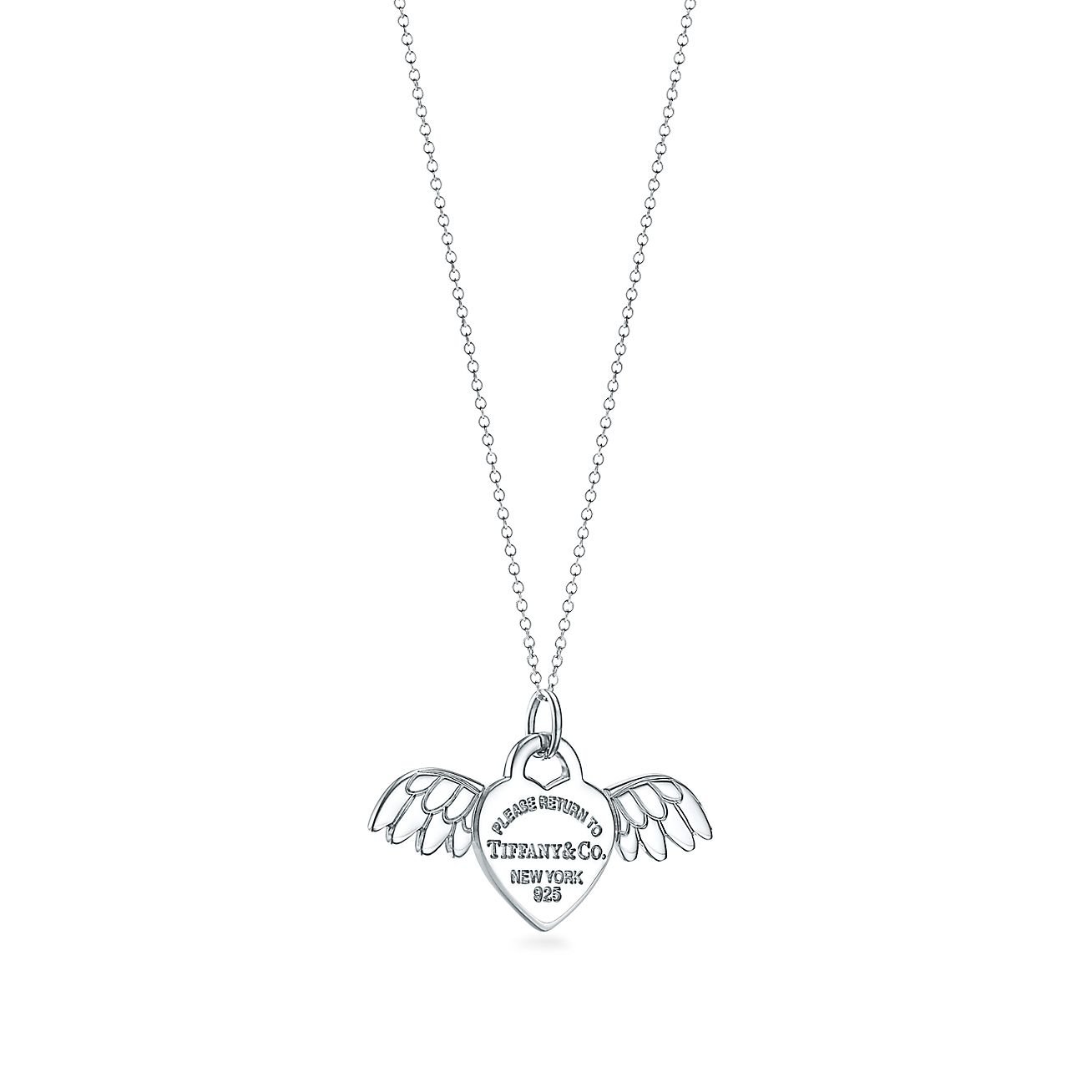 Return To Tiffany Angel Heart Tag Charm In Sterling Silver Tiffany Co