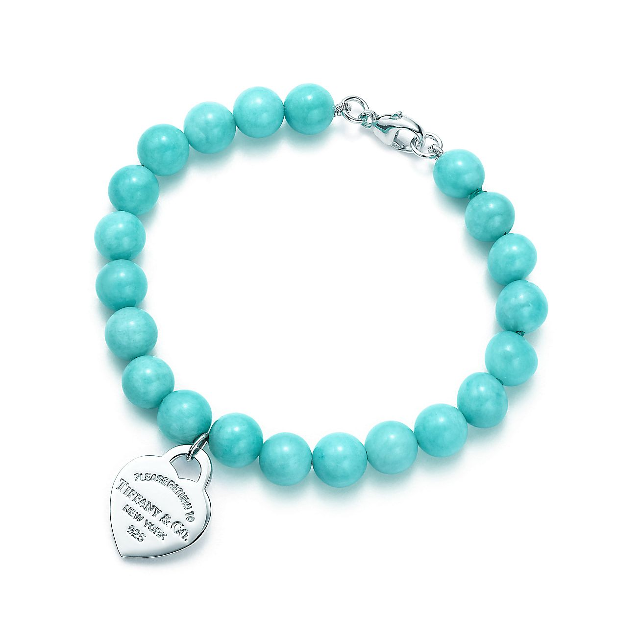 Return To Tiffany Small Heart Tag In Silver On An Ite Bead Bracelet Co
