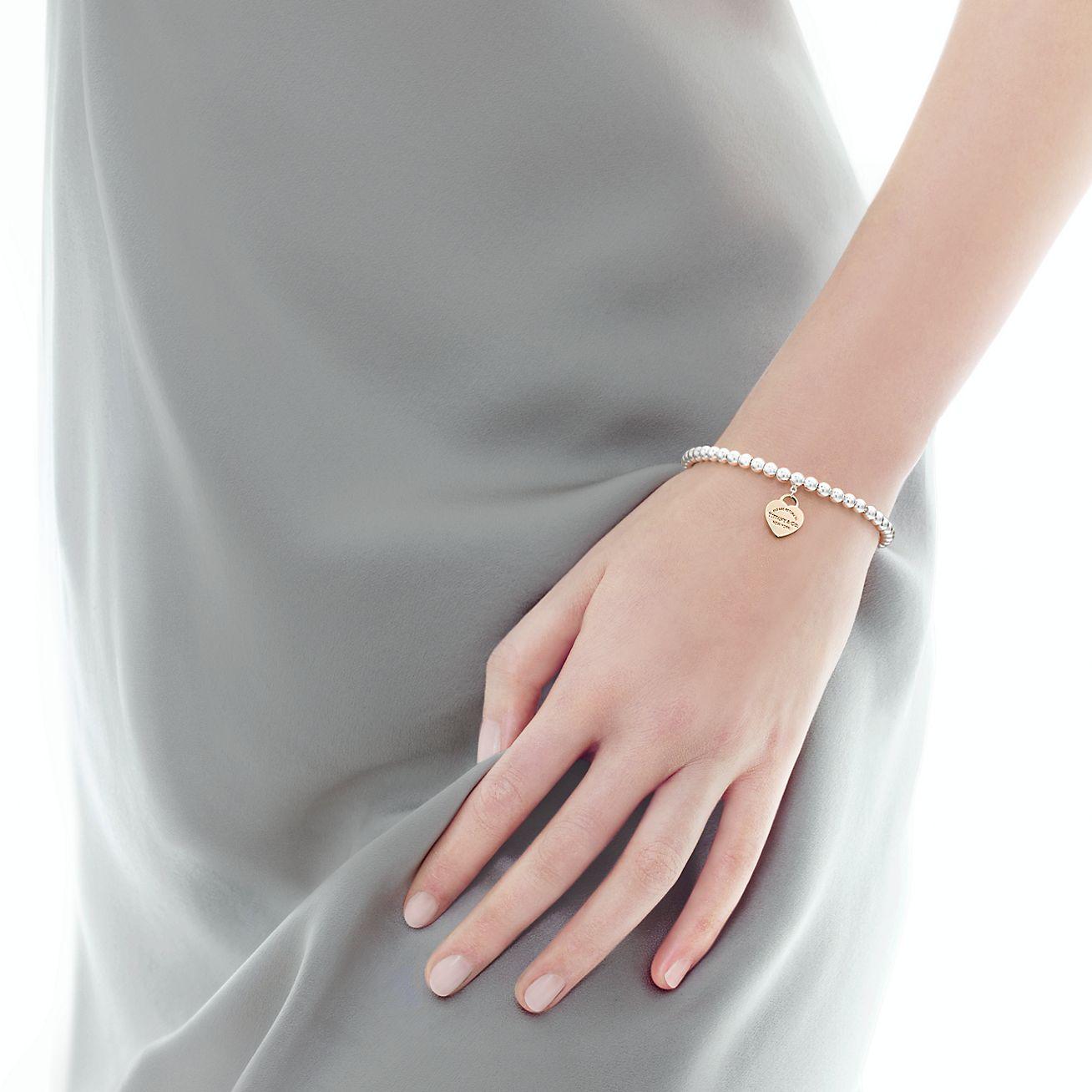 Bead Bracelet In Silver And Rubedo