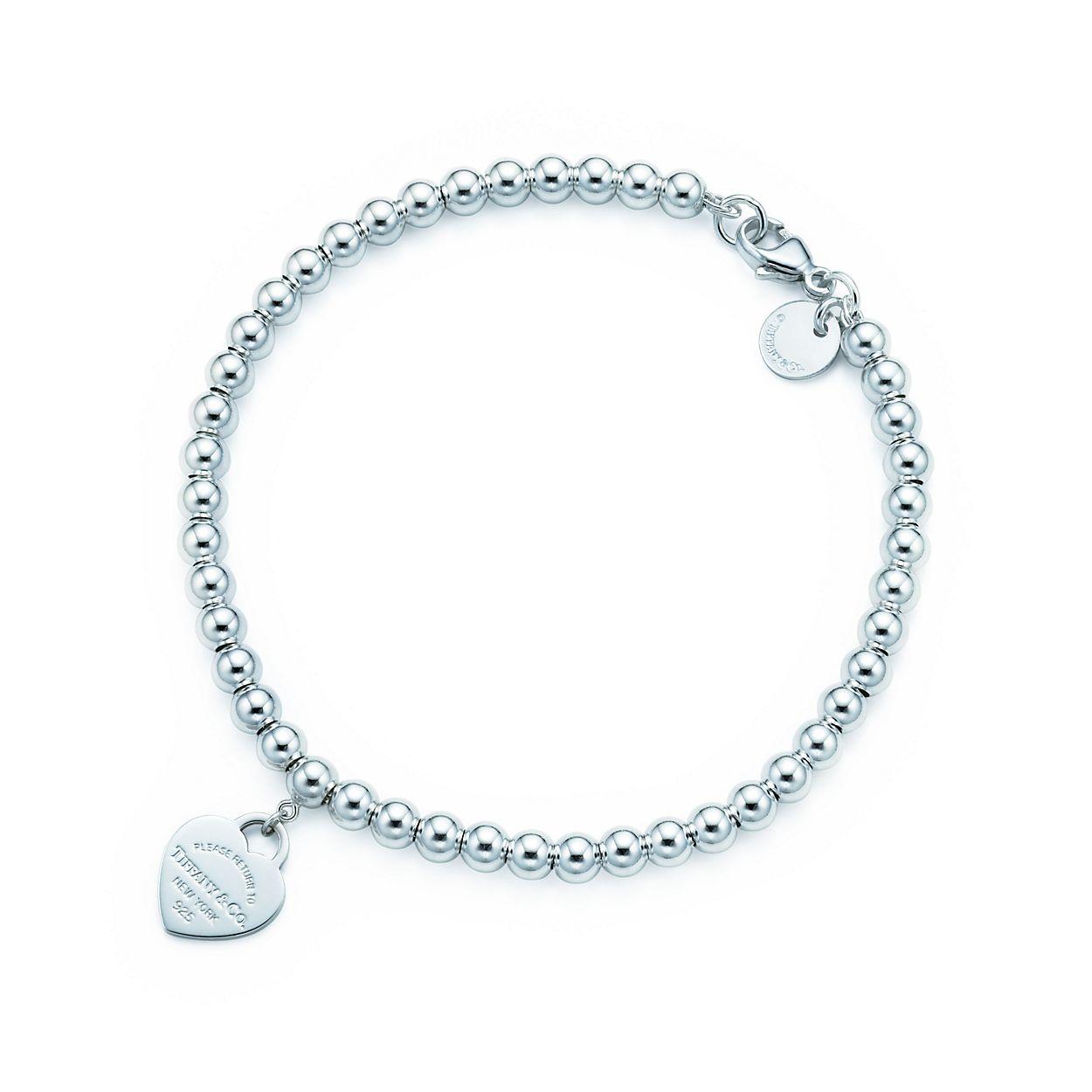Tiffany Bead Bracelet In Silver