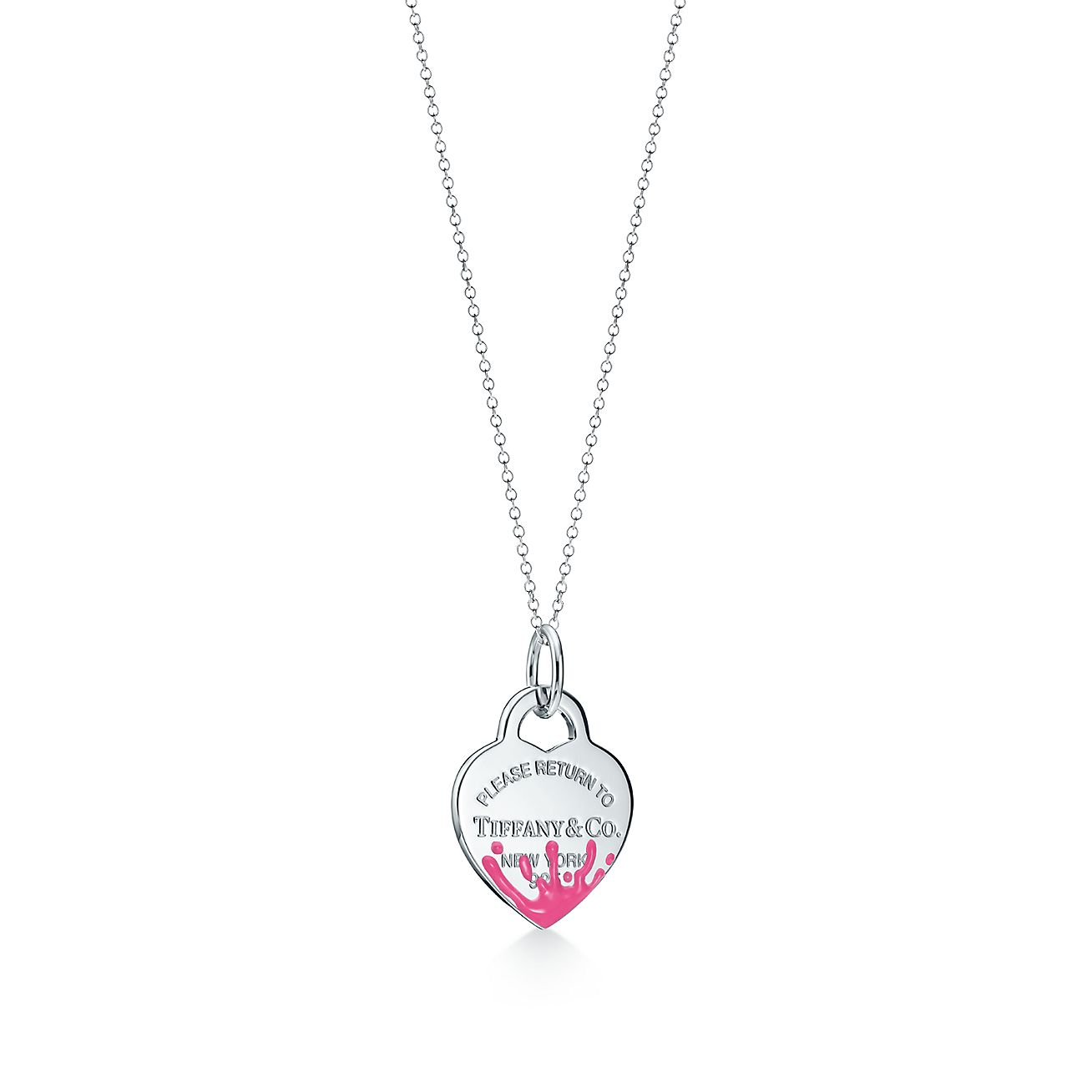 Return To Tiffany Color Splash Heart Tag Charm In Sterling Silver Medium Tiffany Co
