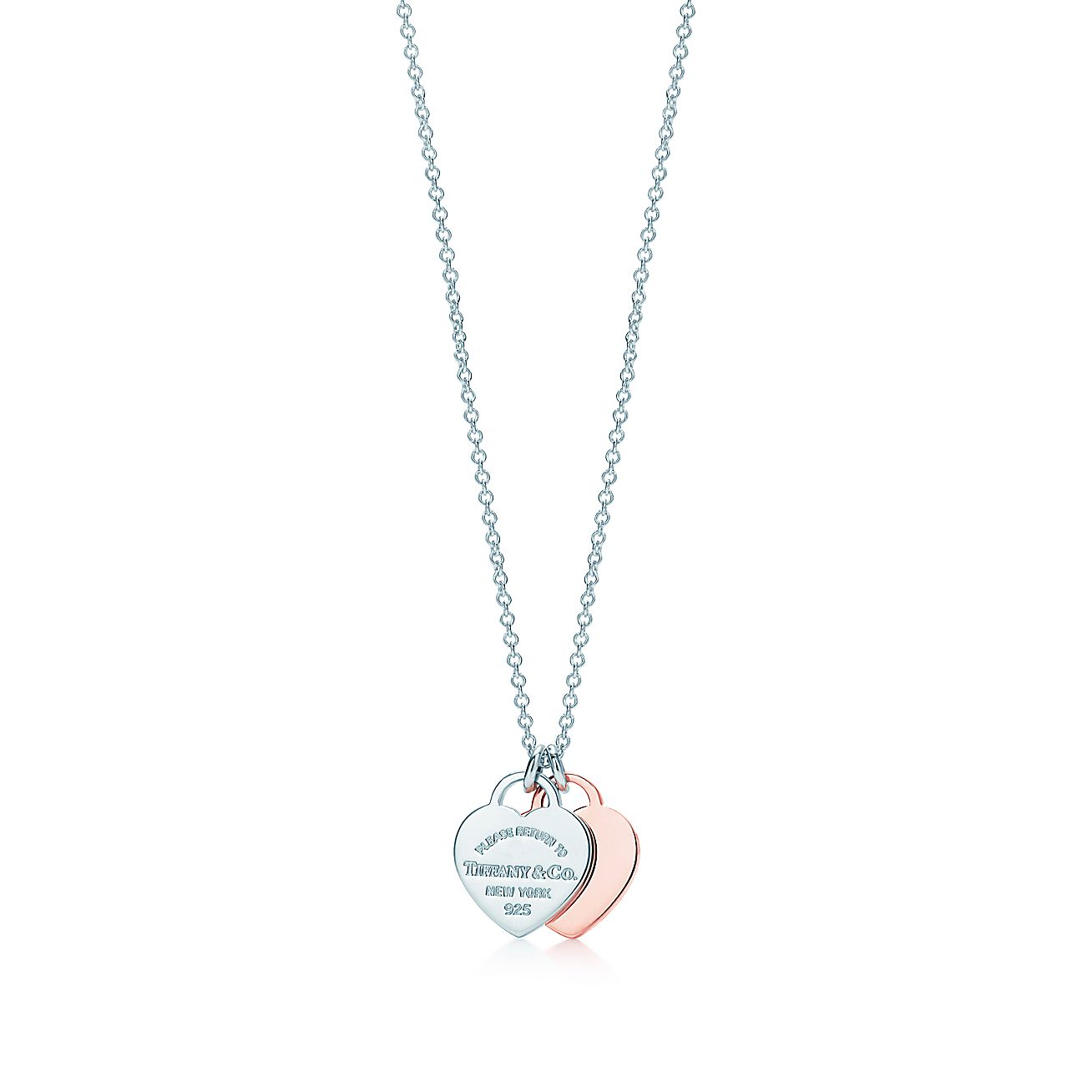 asp lottie heart diamond and lily designer romantic silver double p necklace