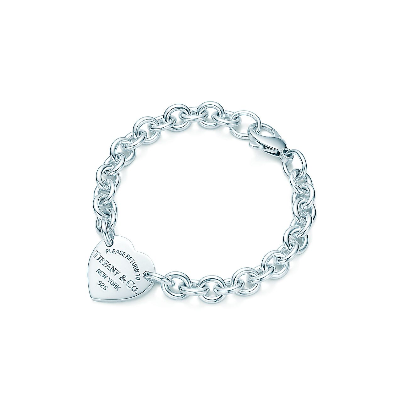Return To Tiffany Medium Heart Tag On A Bracelet In Sterling Silver Co