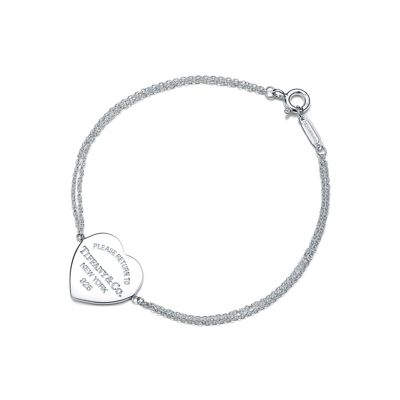 Sterling Silver Heart Charm Bracelet Deliacte silver Jewellery Bracelet