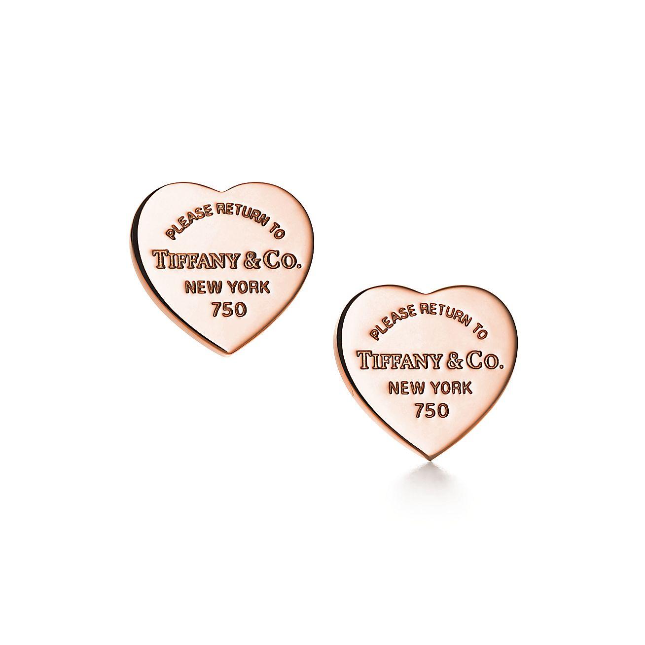 Return To Tiffany Heart Tag Earrings In Rose Gold Mini Tiffany Co