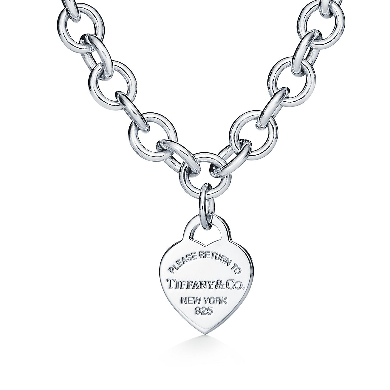 Return To Tiffany Heart Tag Necklace In Sterling Silver Tiffany Co