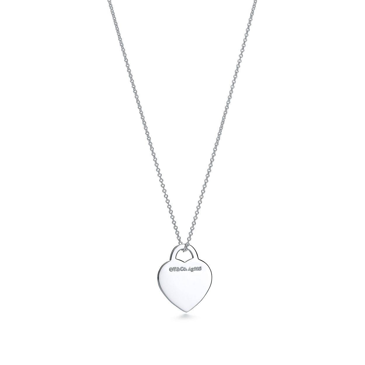 Return To Tiffany Heart Tag Pendant In Sterling Silver Tiffany Co