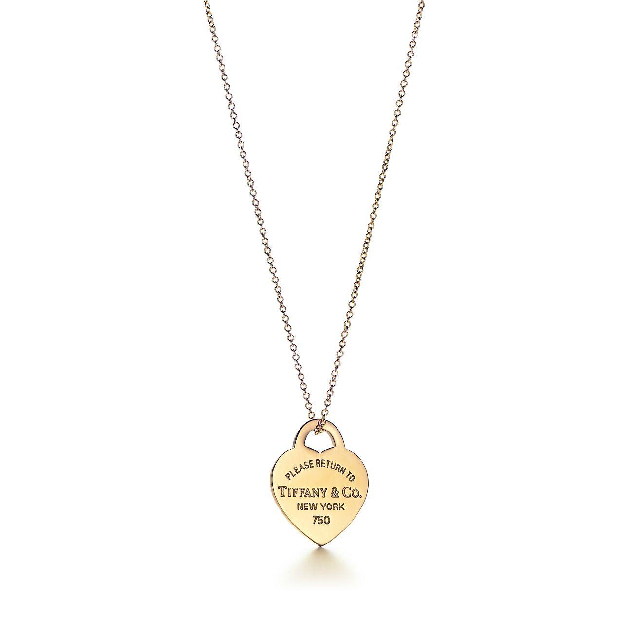 Return To Tiffany Heart Tag Pendant In 18k Gold Small Tiffany