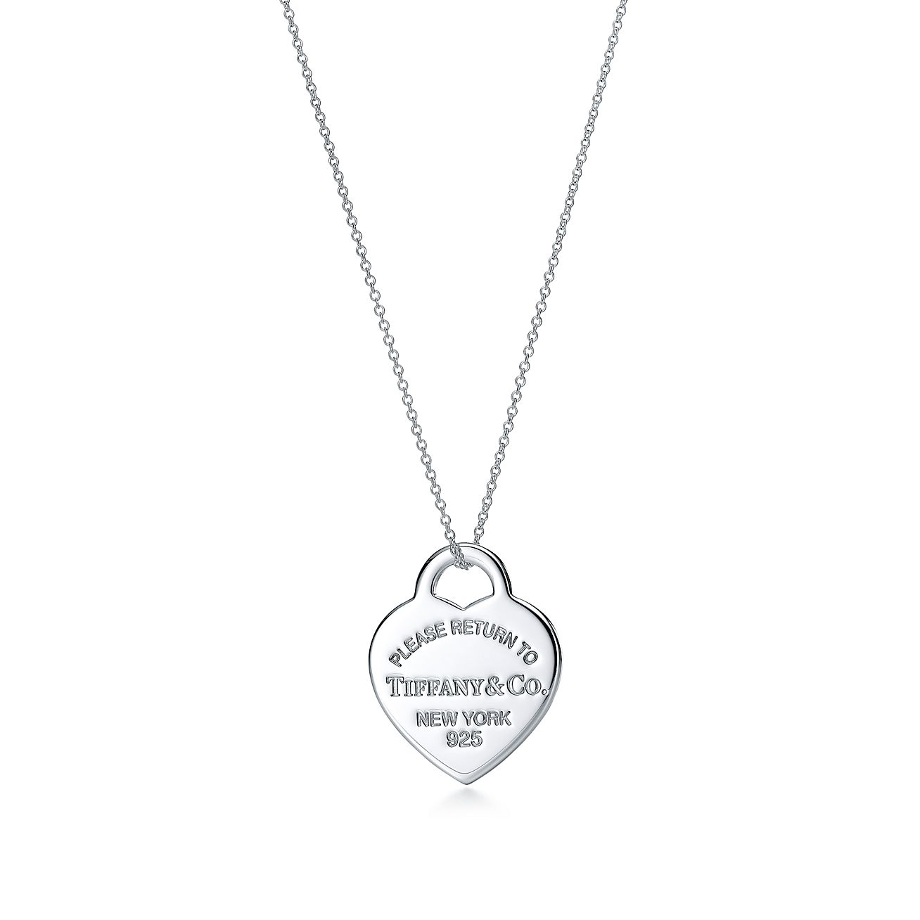 Return To Tiffany Heart Tag Pendant In Sterling Silver Medium Tiffany Co