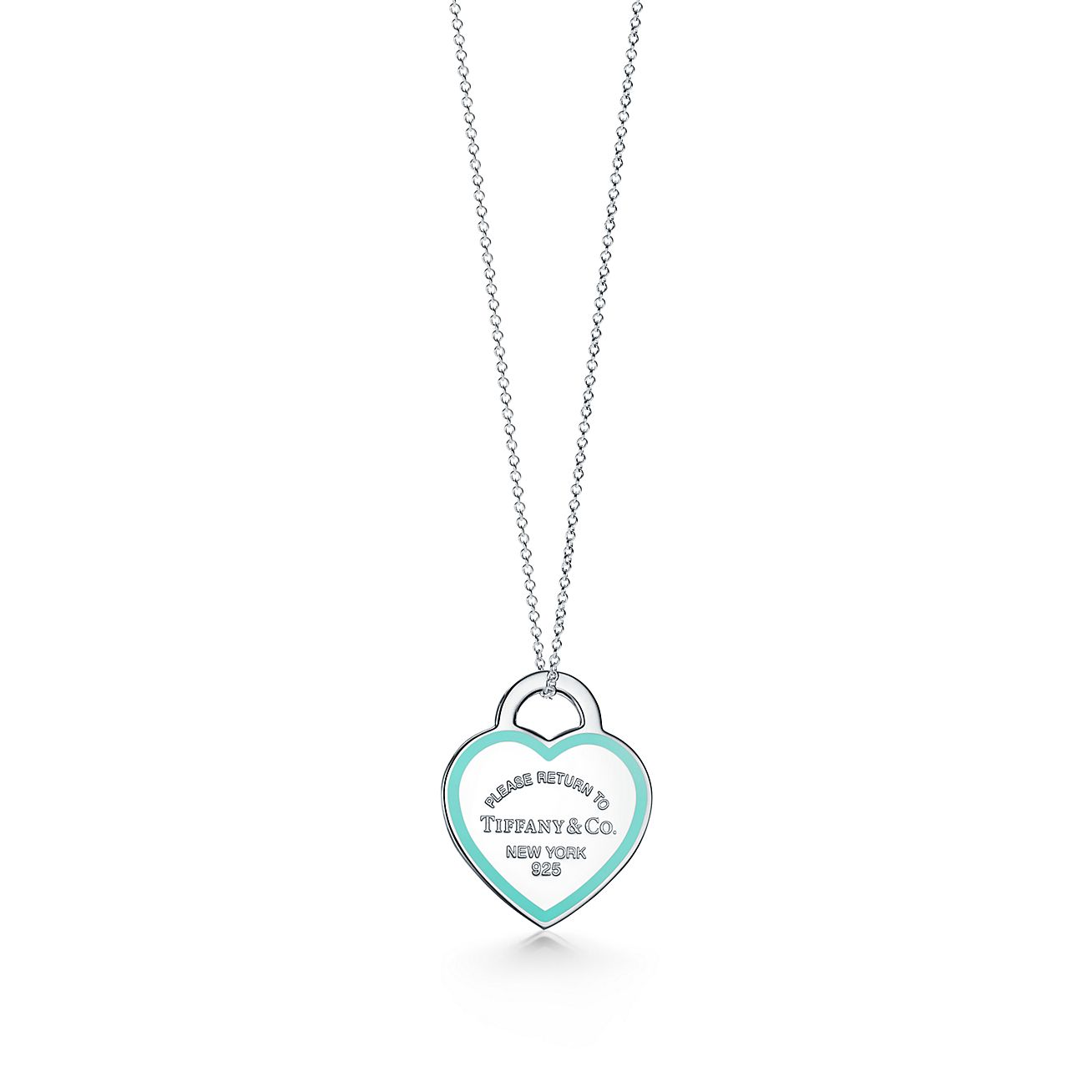 Return To Tiffany Heart Tag Pendant In Sterling Silver With Enamel Finish Tiffany Co