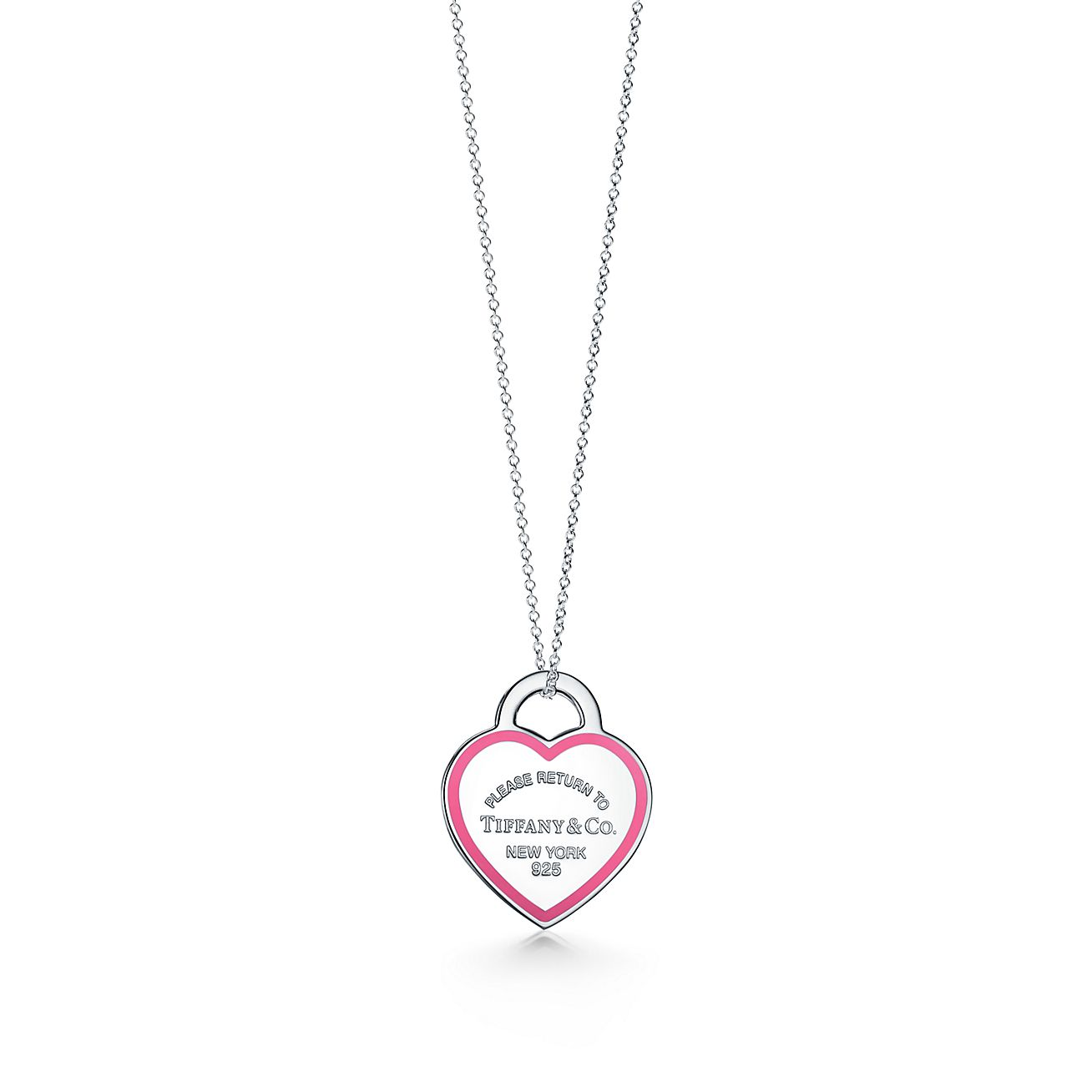 Return To Tiffany Heart Tag Pendant In Sterling Silver With Pink Enamel Finish Tiffany Co