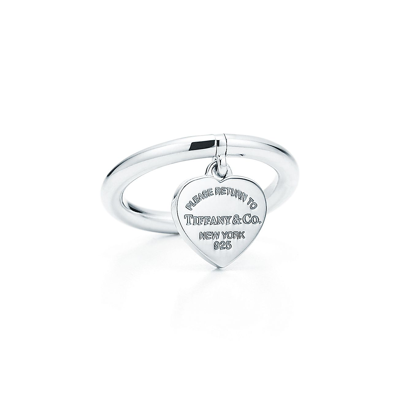 Return To Tiffany Heart Tag Ring In Sterling Silver Tiffany Co