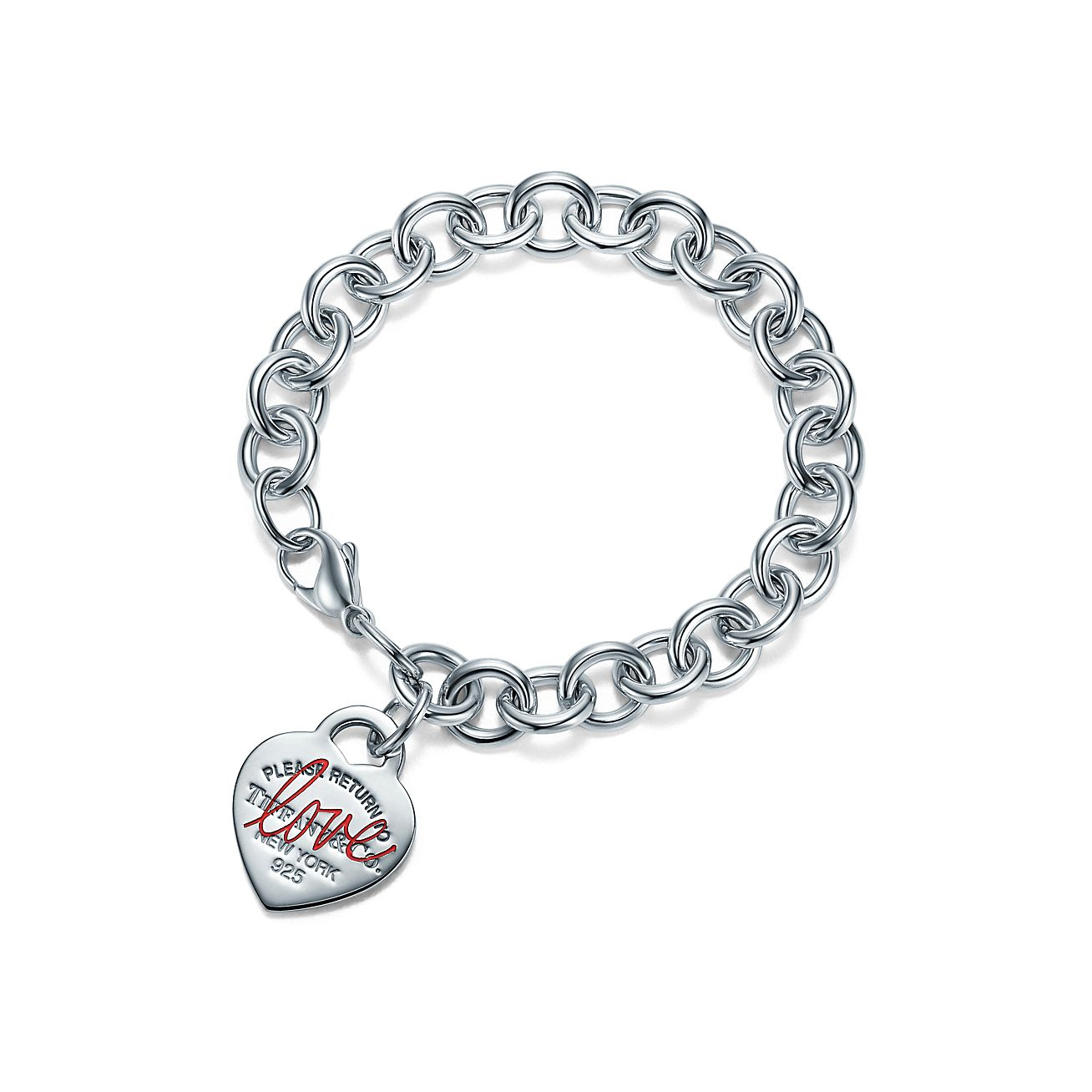 Tiffany Love Heart Tag Bracelet