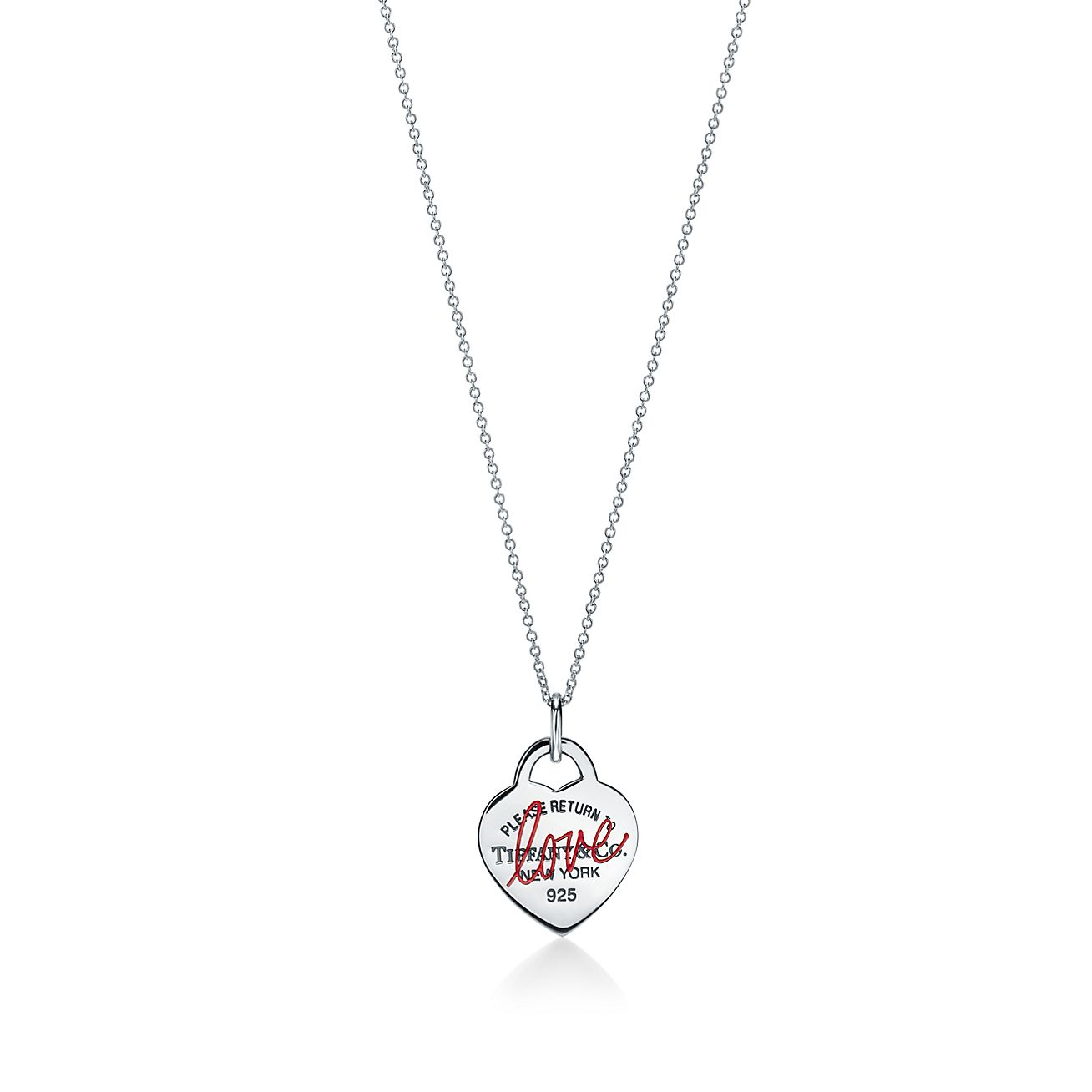 Return To Tiffany Love Heart Tag Pendant In Sterling Silver Small Tiffany Co