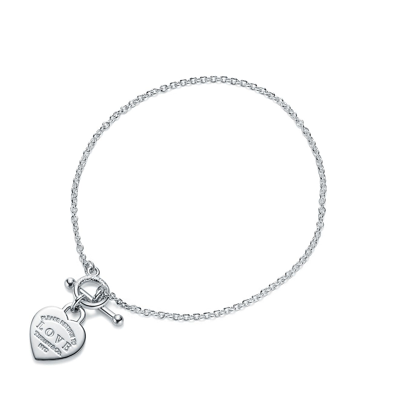 Return to Tiffany Love heart bead bracelet in silver with enamel finish - Size Medium Tiffany & Co. eWDZJ3scq