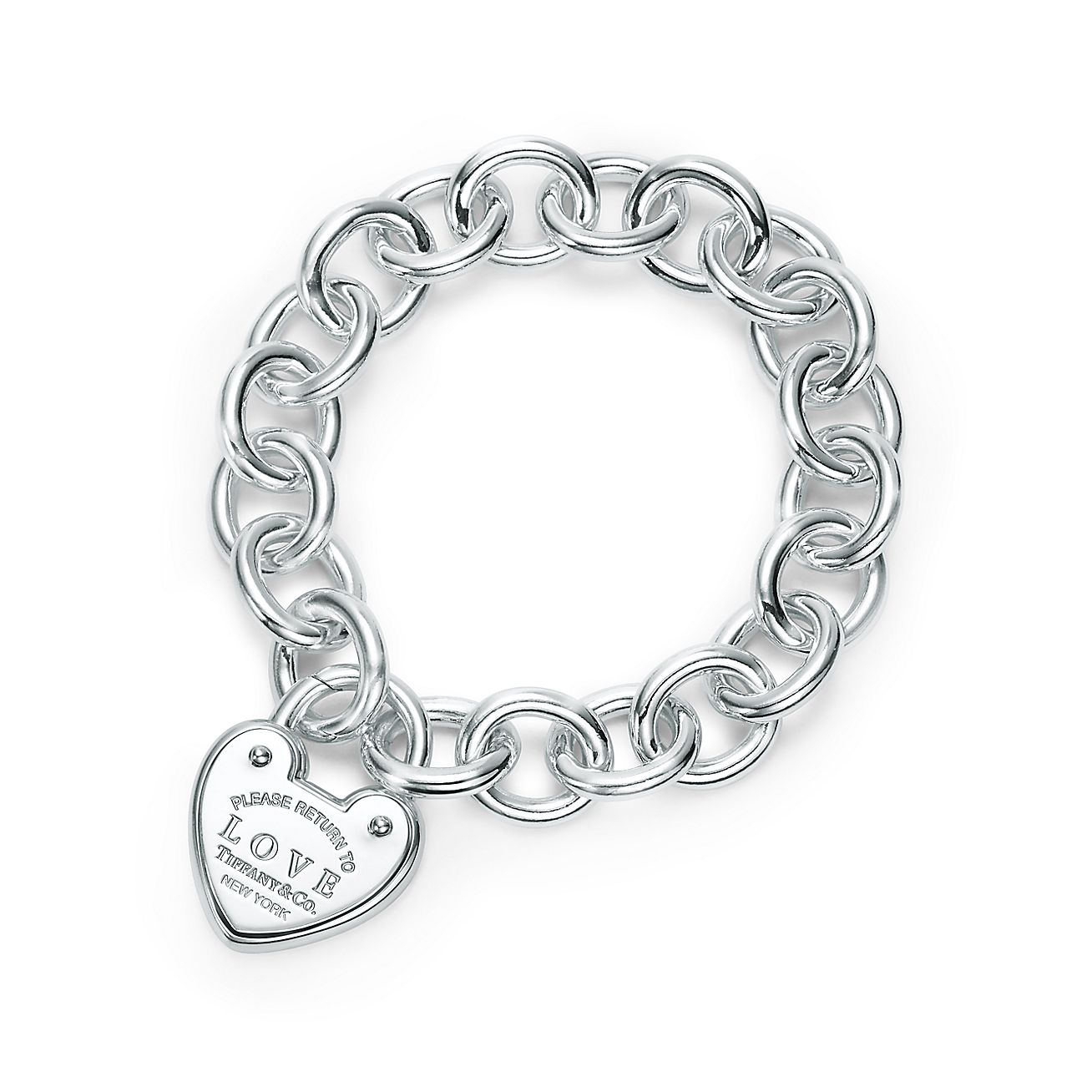 Return To Tiffany Love Lock Bracelet In Sterling Silver Medium Co