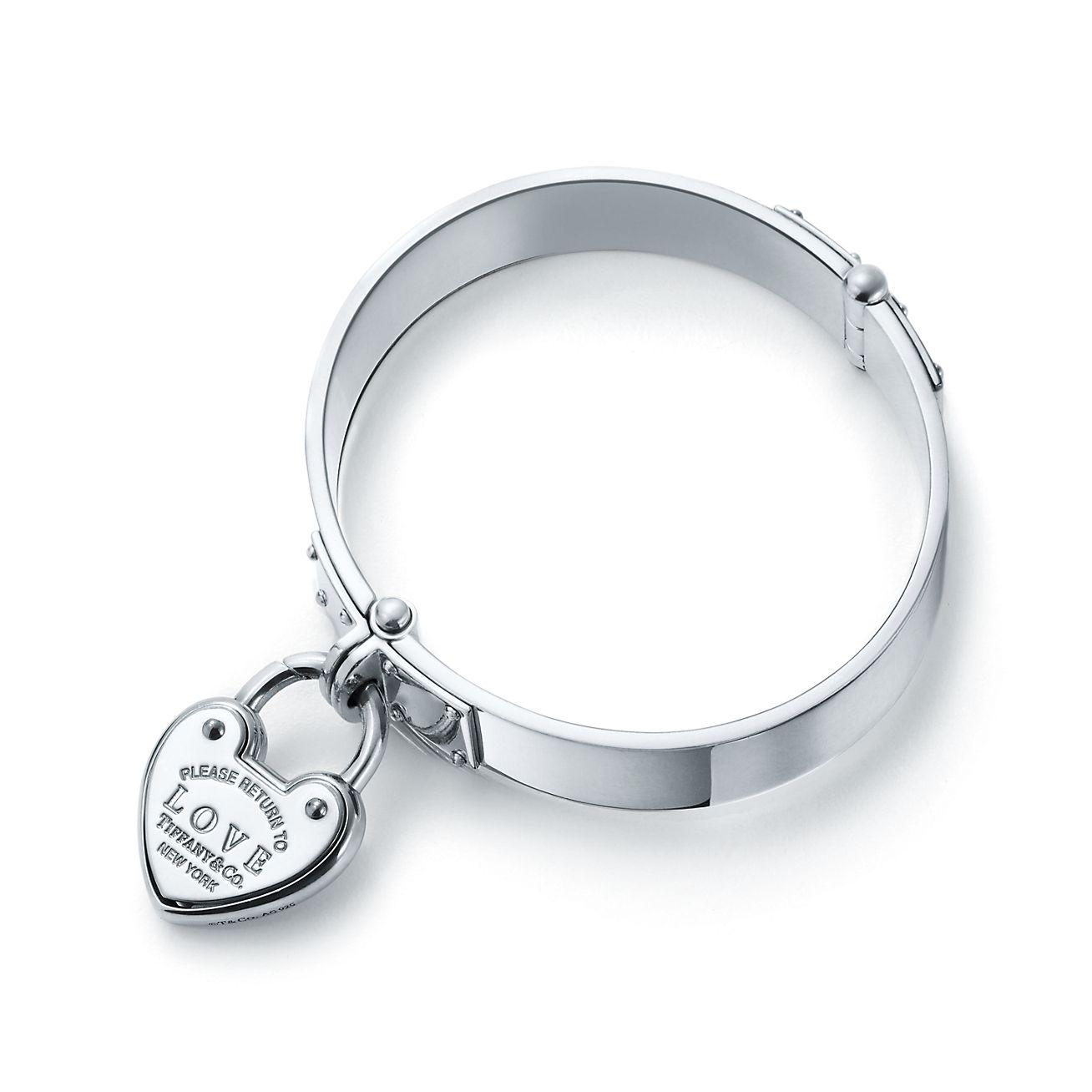 Return To Tiffany Love Lock Hinged Bangle