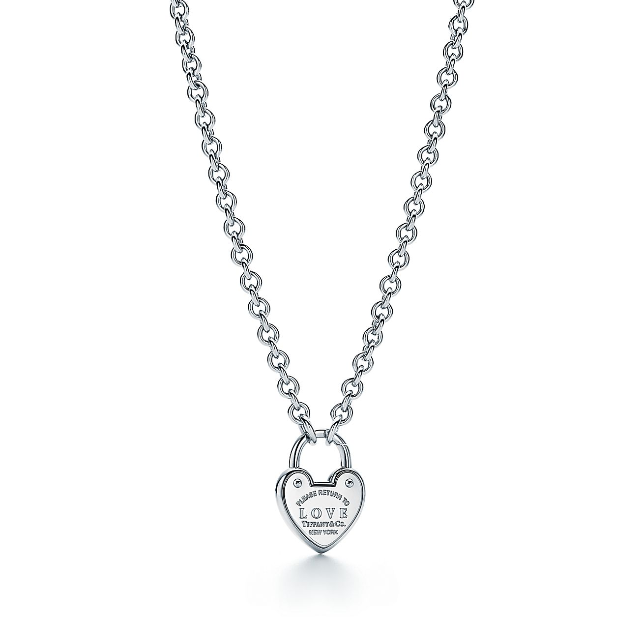 return to tiffany love lock necklace in sterling silver tiffany