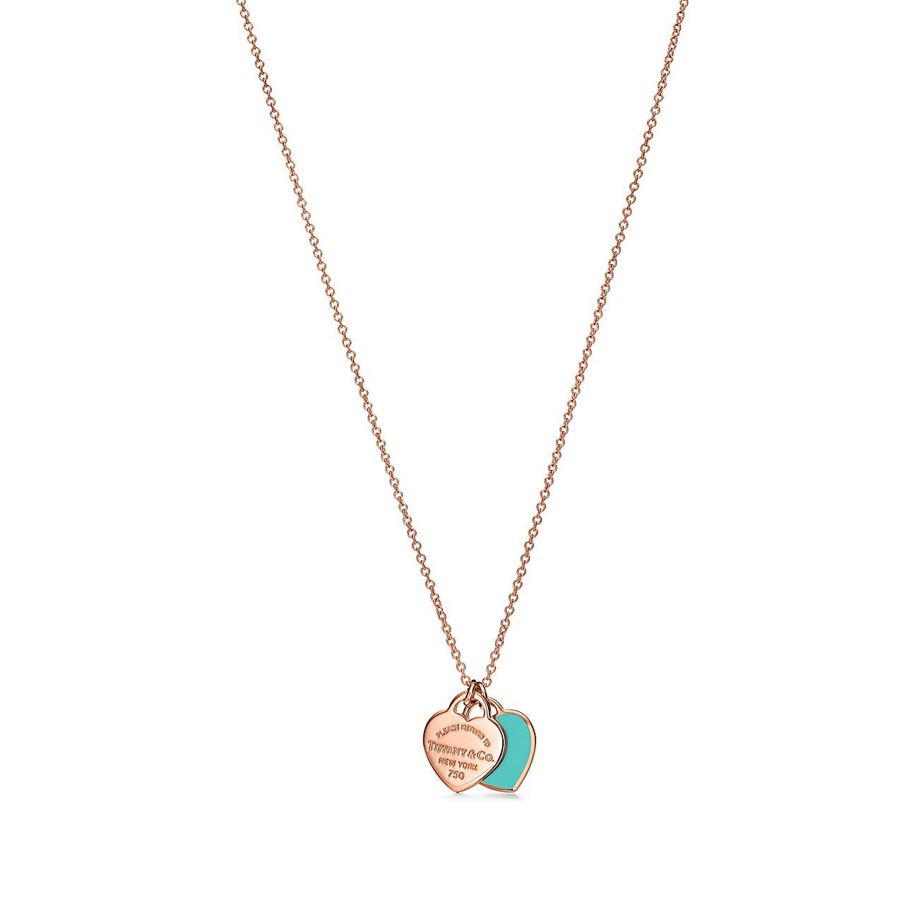 Return To Tiffany Mini Double Heart Tag Pendant In 18k Rose Gold Tiffany Co