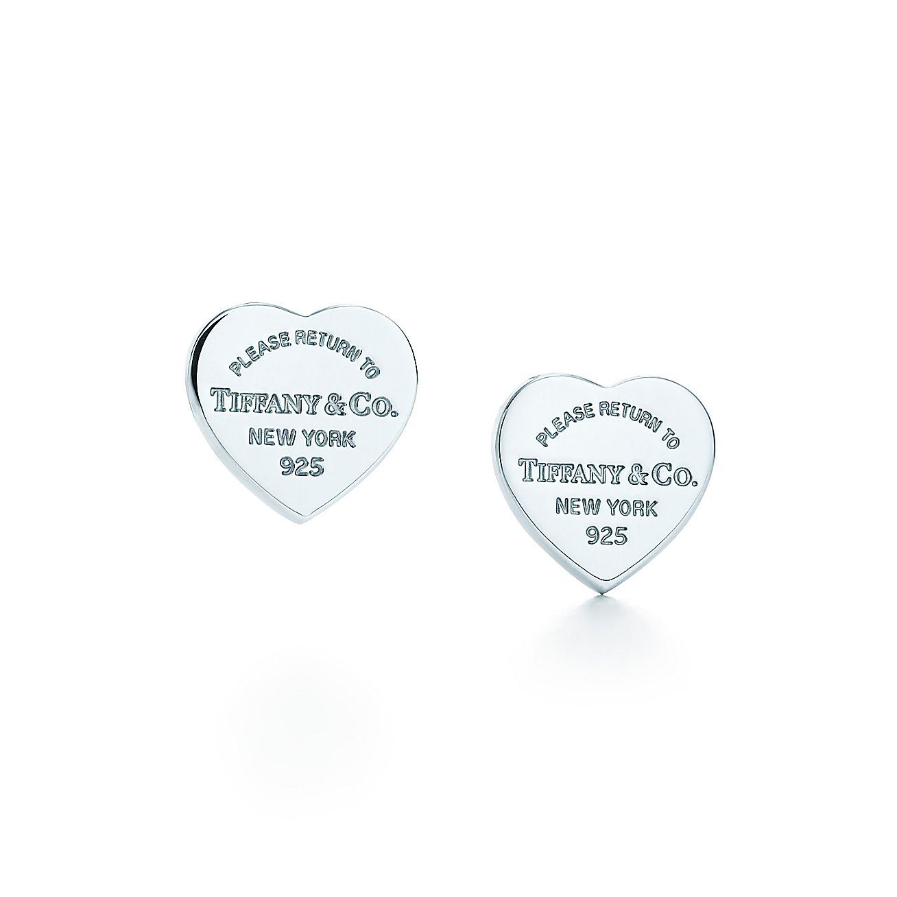 Return To Tiffany Mini Heart Tag Earrings In Sterling Silver Co