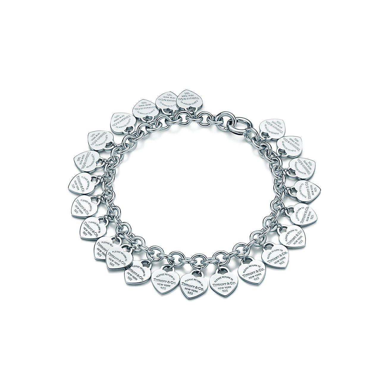 Tiffany Heart Bracelet >> Sterling Silver Multi Heart Tag Bracelet Tiffany Co