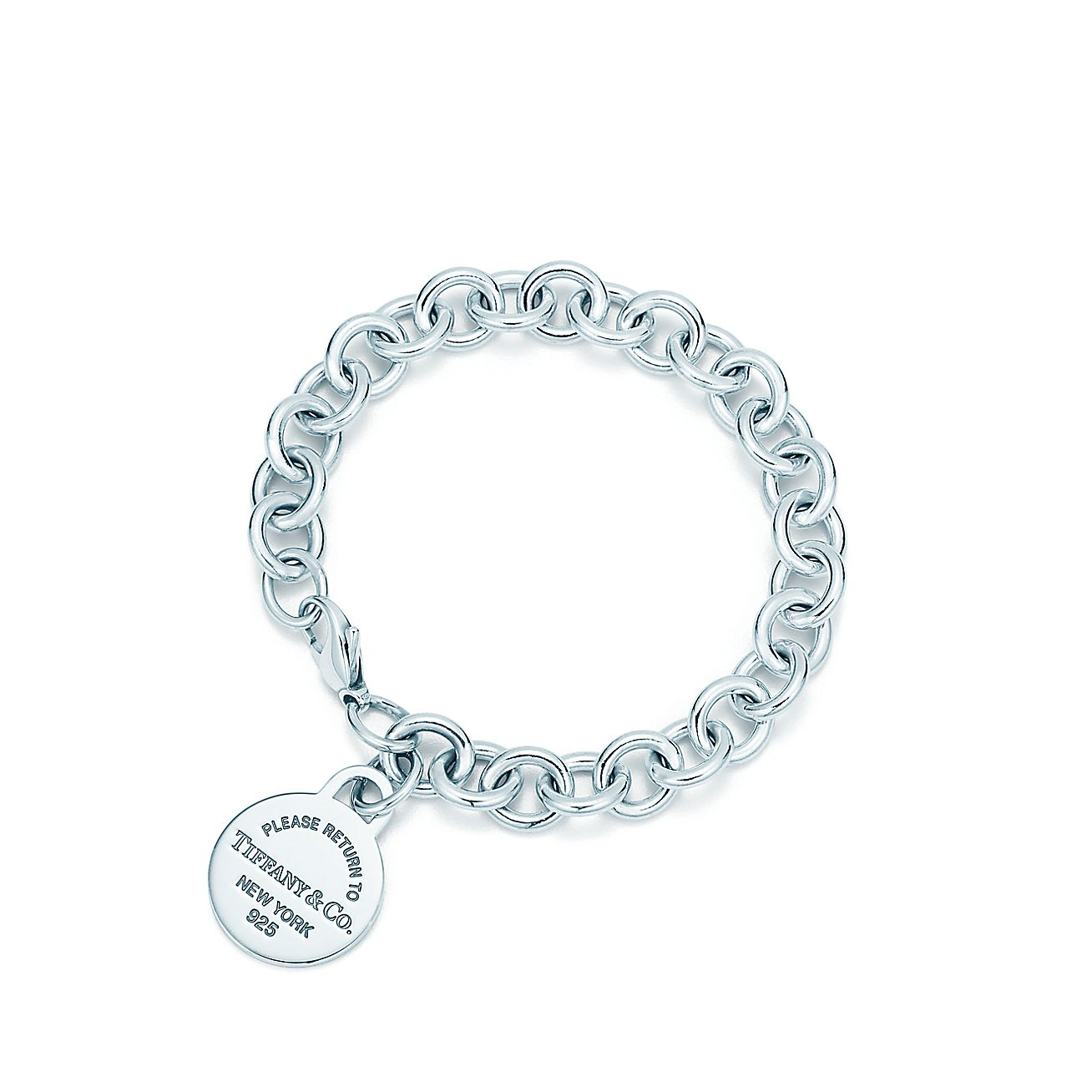 Return To Tiffany Round Tag Bracelet In Sterling Silver Medium Co