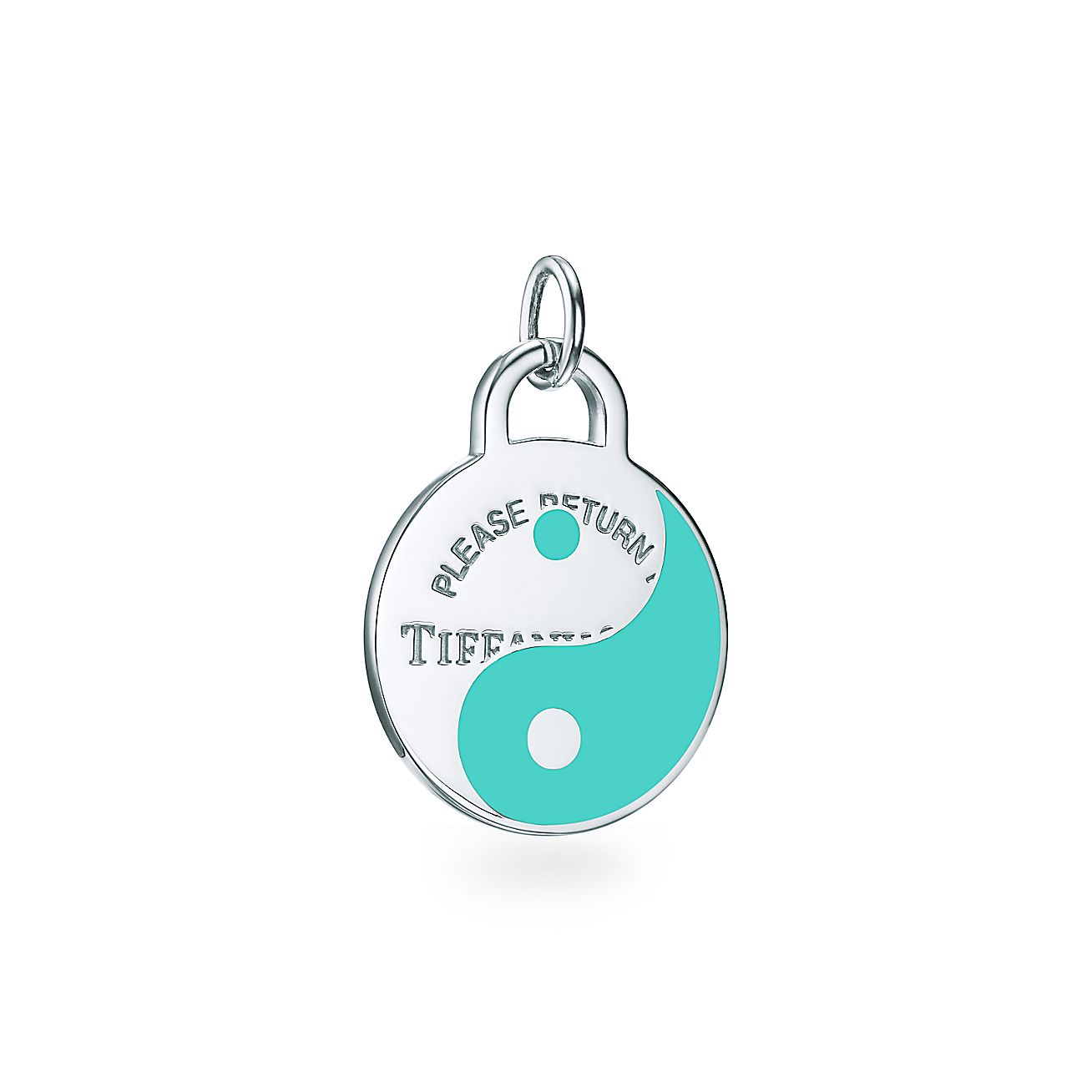 Return To Tiffany Yin And Yang Tag Charm In Sterling Silver With Tiffany Blue Tiffany Co