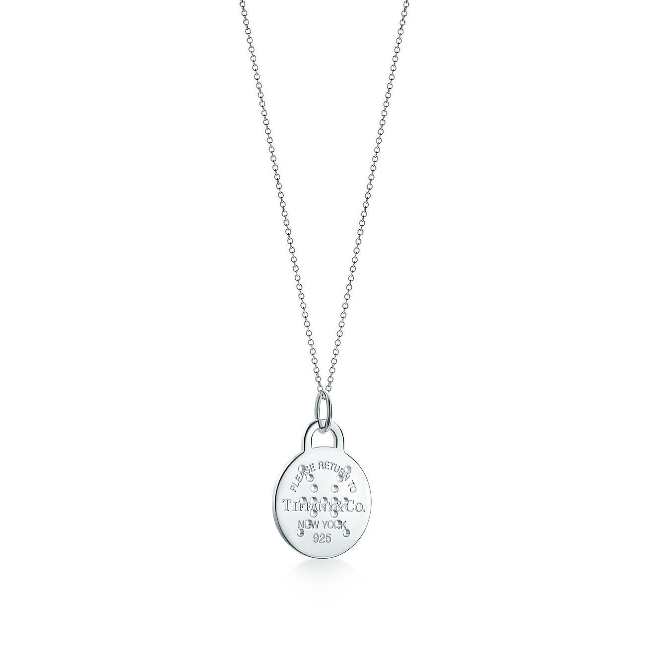 Return to Tiffany Zodiac Virgo round tag charm in sterling silver, large - Size Virgo Tiffany & Co.