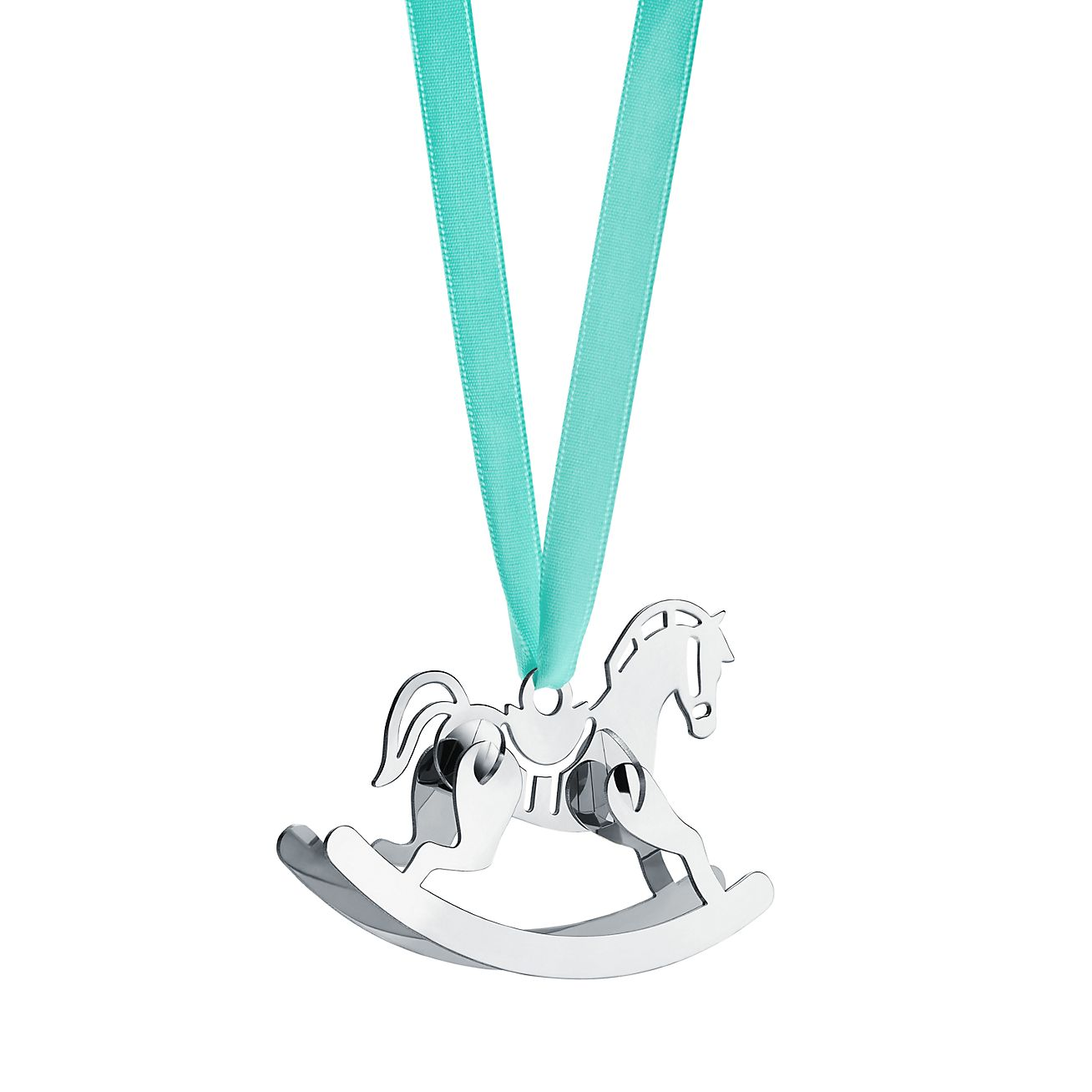 Rocking Horse Ornament In Sterling Silver Tiffany Co