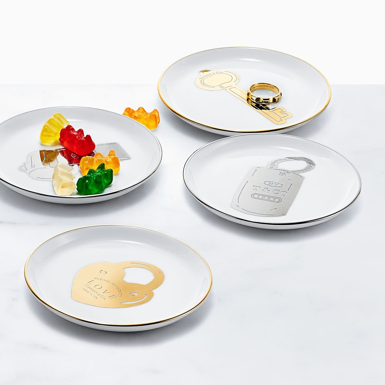 delete_large Round Ring Dish Set Round Ring Dish Set_alternative-view-1  sc 1 st  Tiffany & Round ring dishes in porcelain set of four. | Tiffany \u0026 Co.