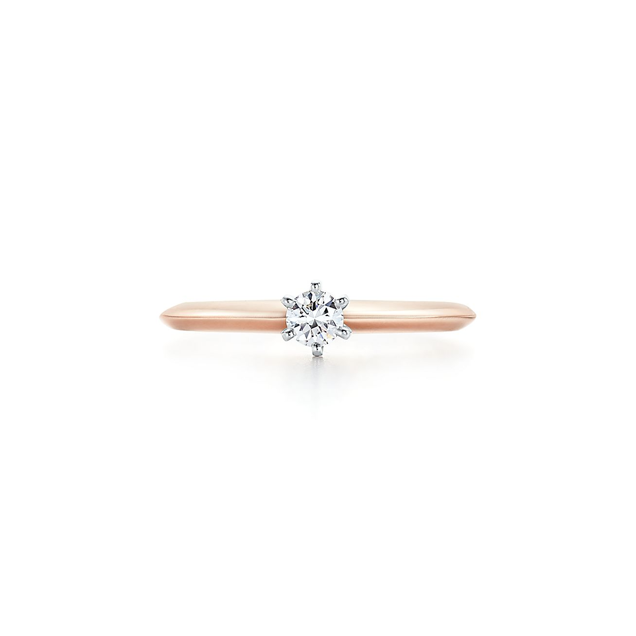 The Tiffany Setting In 18k Rose Gold Tiffany Co