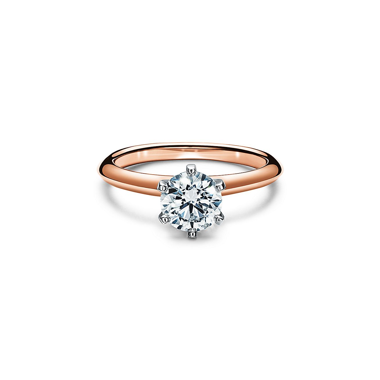 The Tiffany Setting In 18k Rose Gold World S Most Iconic Engagement Ring Tiffany Co
