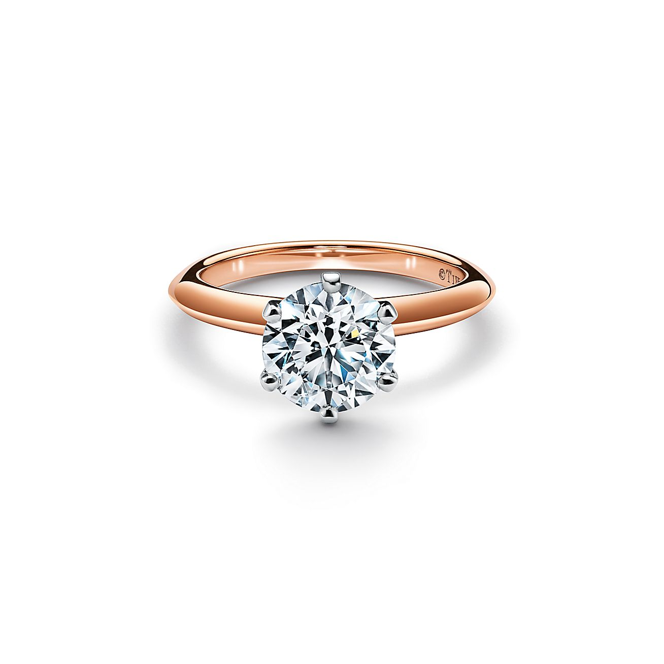 The Tiffany Setting Engagement Ring In 18k Rose Gold