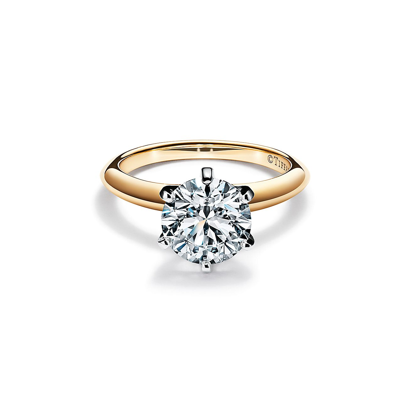 The Tiffany Setting In 18k Yellow Gold World S Most Iconic Engagement Ring Tiffany Co