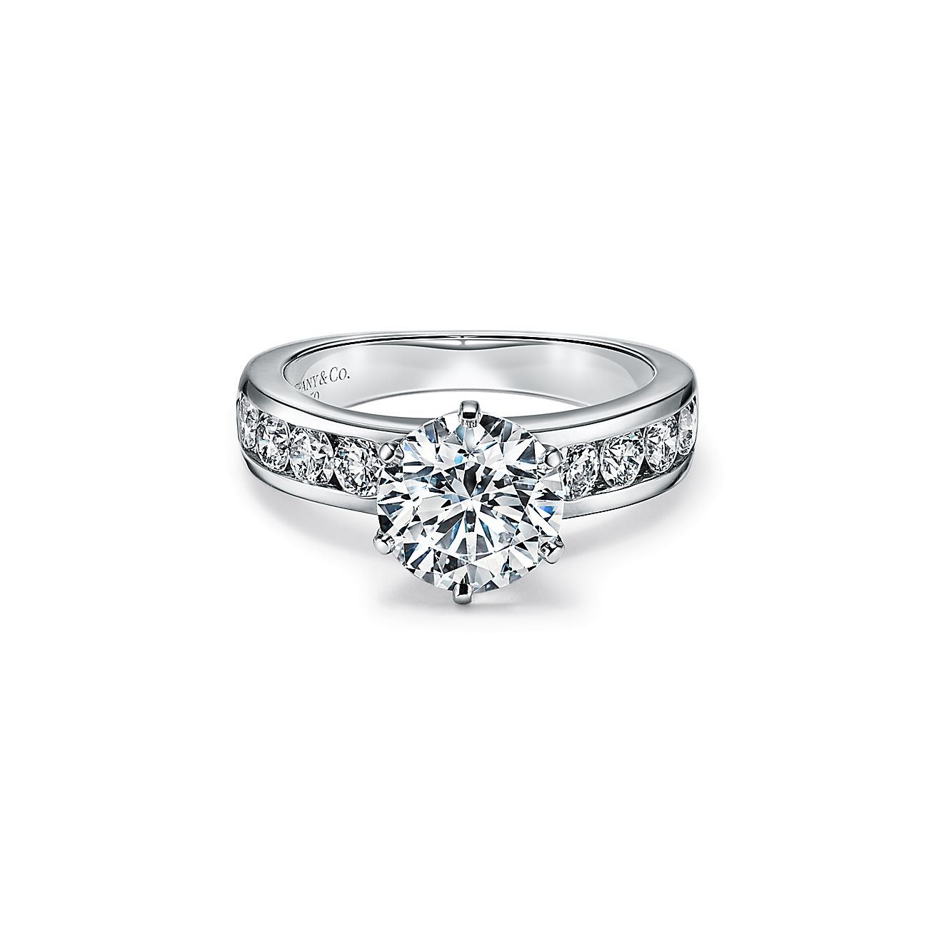 The Tiffany Setting Engagement Ring With A Channel Set Diamond