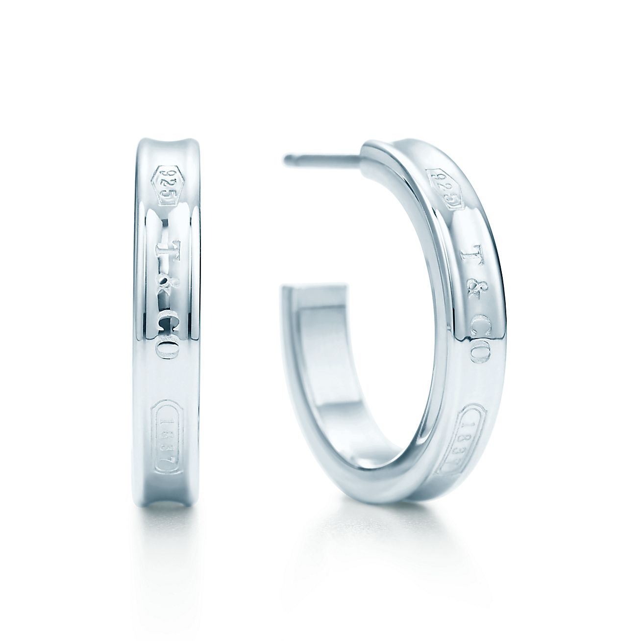 Tiffany 1837 Narrow Hoop Earrings In Sterling Silver Small Co