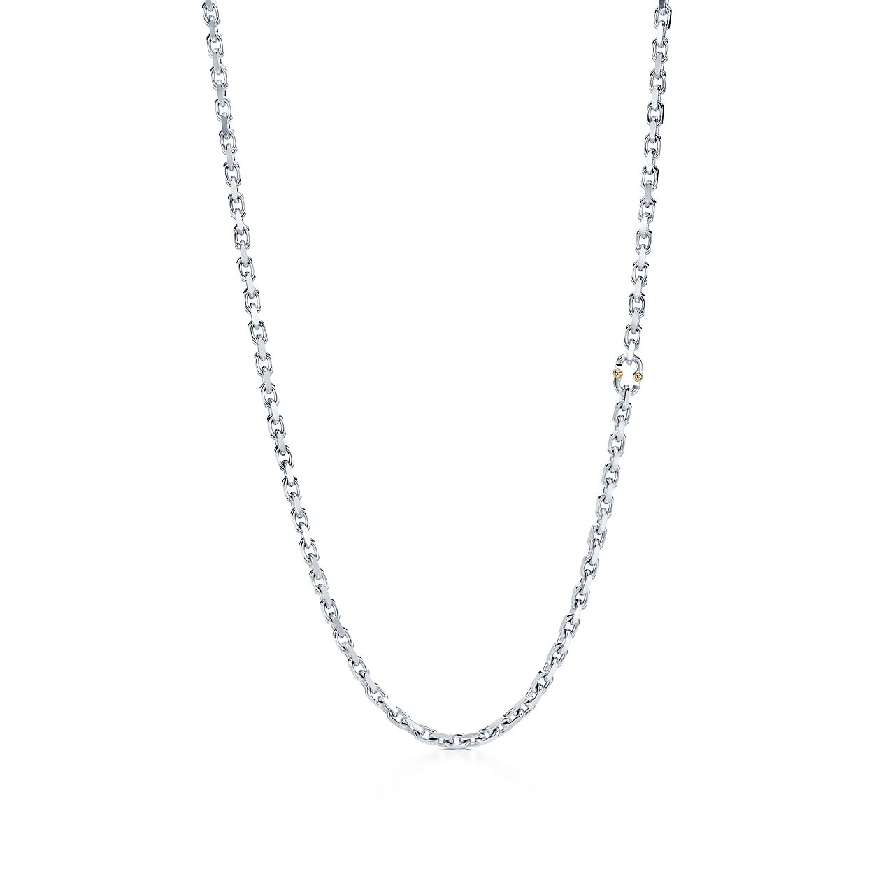 Tiffany 1837 Makers Chain Necklace In Sterling Silver And 18k Gold 24 Tiffany Co