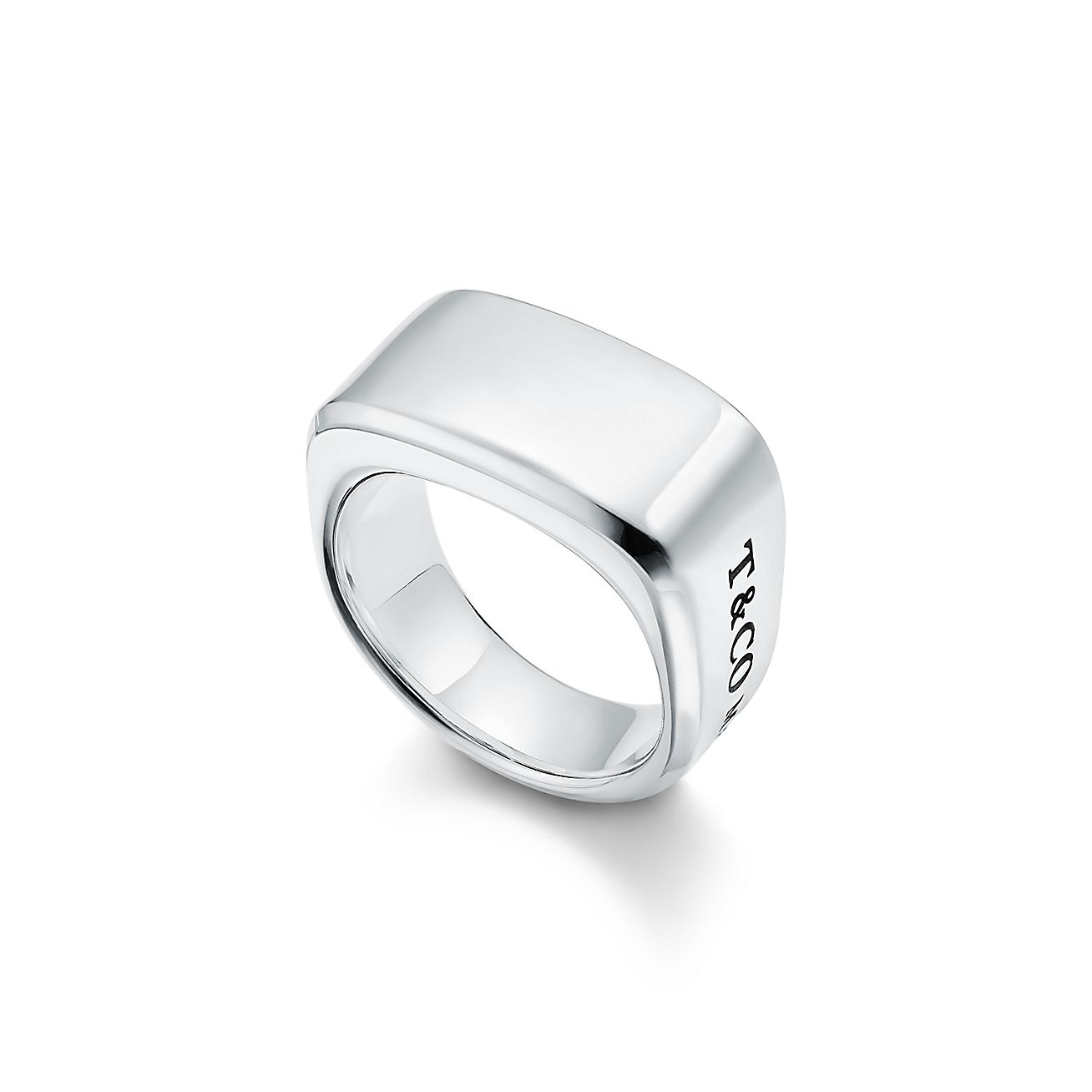Tiffany 1837 Makers Signet Ring In Sterling Silver 12 Mm Wide Tiffany Co