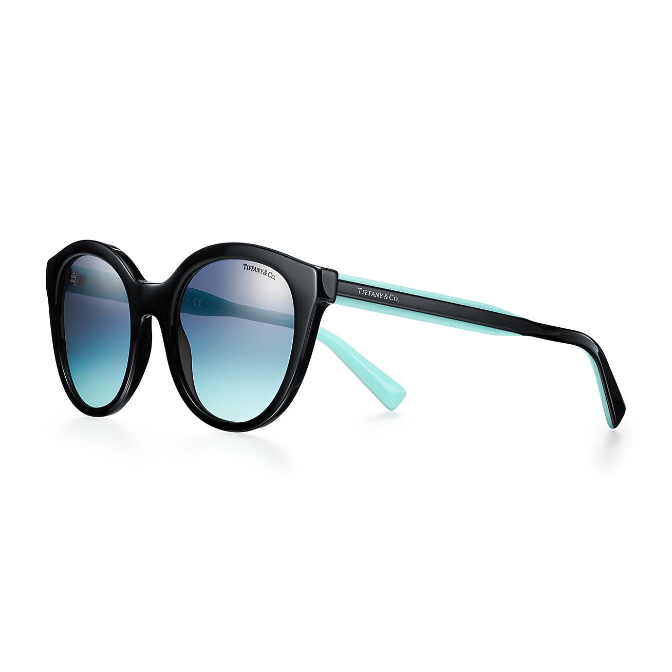 Tiffany Blue Panthos Sunglasses In Black Acetate Tiffany Co