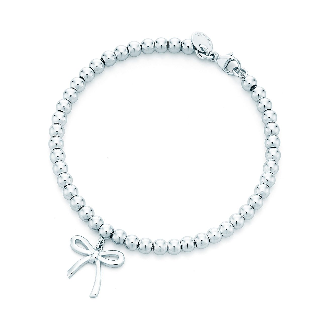 tiffany bow bead bracelet in sterling silver medium tiffany co