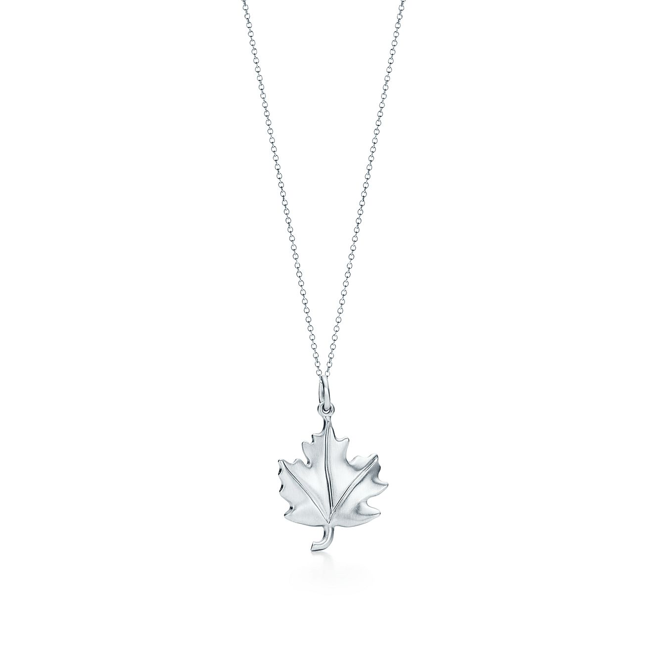 Tiffany charms maple leaf charm in sterling silver tiffany co tiffany charmsmaple leaf charm aloadofball Gallery