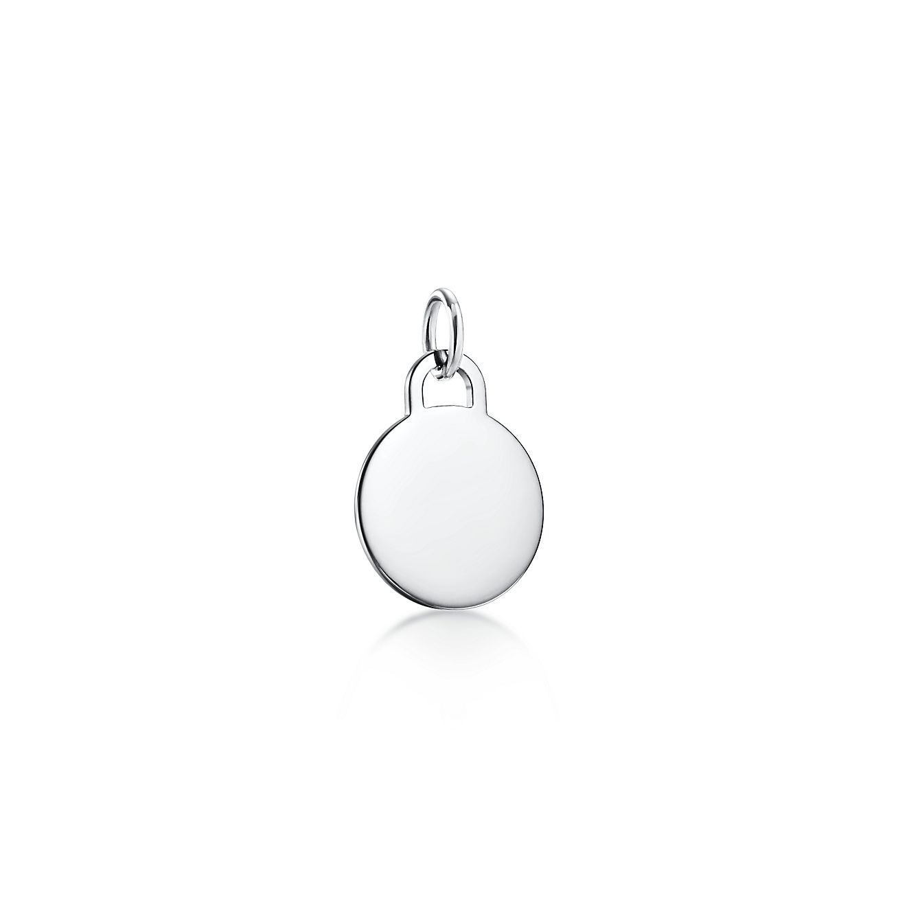 Tiffany Charms round tag charm in sterling silver, small Tiffany & Co.
